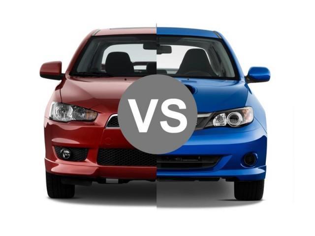 Mitsubishi Lancer Evo vs Subaru Impreza WRX STI