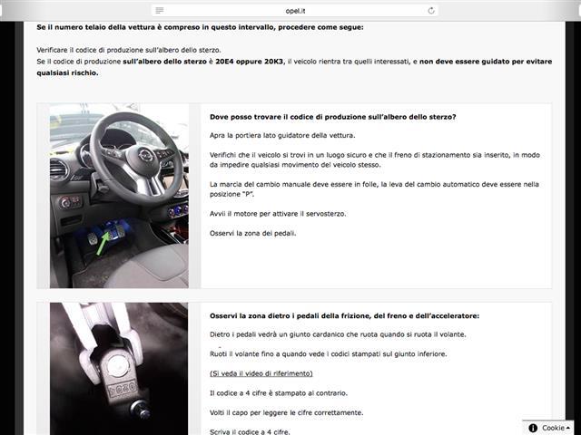Opel Corsa e Opel Adam ai box per controlli
